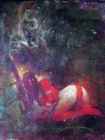 BIll SIENKIEWICZ- Elektra painting. Comic Art