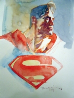BIll SIENKIEWICZ- SUPERMAN PORTRAIT Comic Art