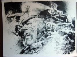 Bill SIENKIEWICZ- Hulk DP spread Comic Art