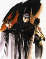 AlEX ROSS- Batman family painting Comic Art