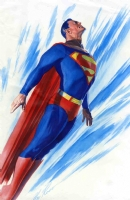 AlEX ROSS- Superman -Color test painting Comic Art