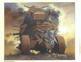 MtG Prophecy: Keldon Battlewagon Comic Art