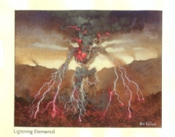 MtG 7th Edition: Lightning Elemental Comic Art
