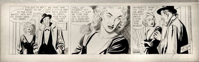 Alex Raymond - Rip Kirby 12/29/53  Comic Art