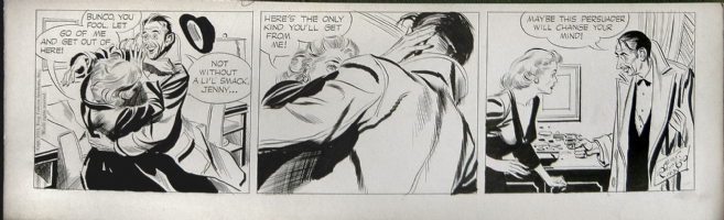 Alex Raymond - Rip Kirby 12/30/53 Comic Art