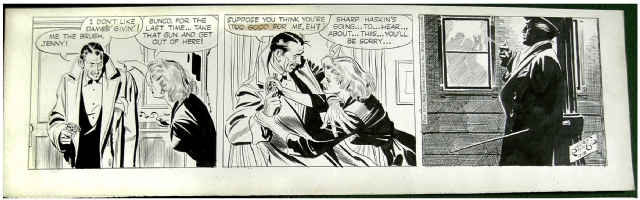 Alex Raymond - Rip Kirby 12/31/53 Comic Art