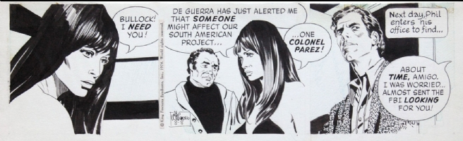 Al Williamson - Secret Agent Corrigan 8/8/74 Comic Art