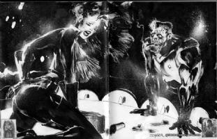 Sin City Marv & Nancy Callahan by Stuart Sayger, Comic Art
