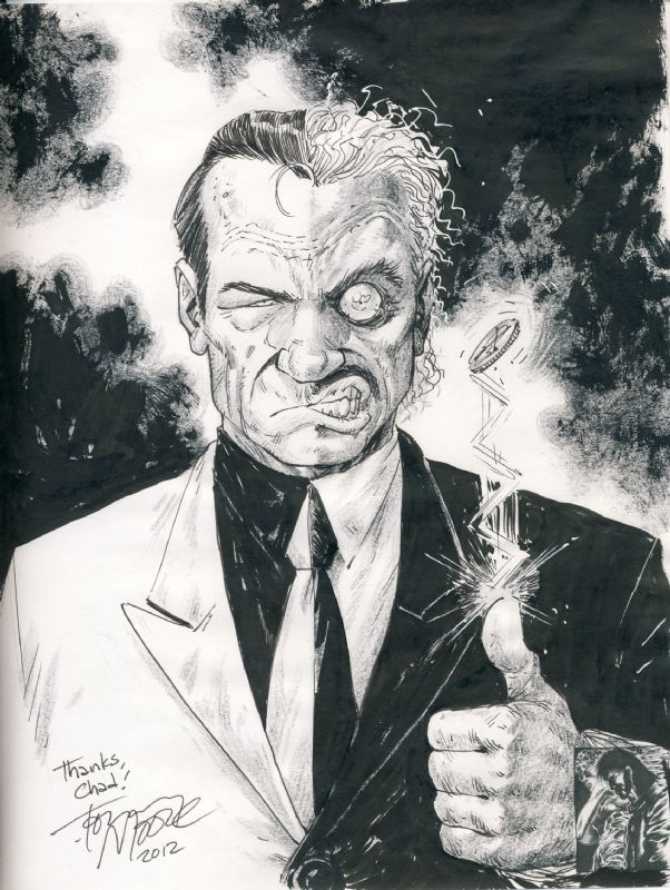 Two Face by Tony Moore Comic Art