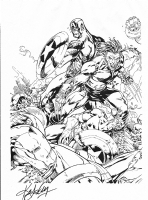 Lashley Ultimate Wolverine, Captain America etc  Blueline Inks Comic Art
