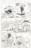 Penthouse Comix Godzilla Story Page 2 Comic Art