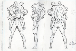 Quicksand model sheet by Keith Pollard Comic Art