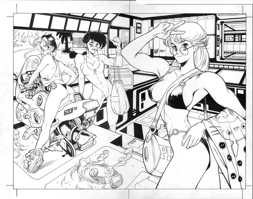WILDSTORM SWIMSUIT GEN13 PINUP Comic Art