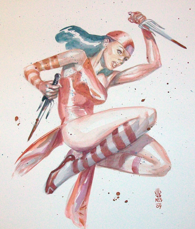 Elektra by J.G. Jones Comic Art