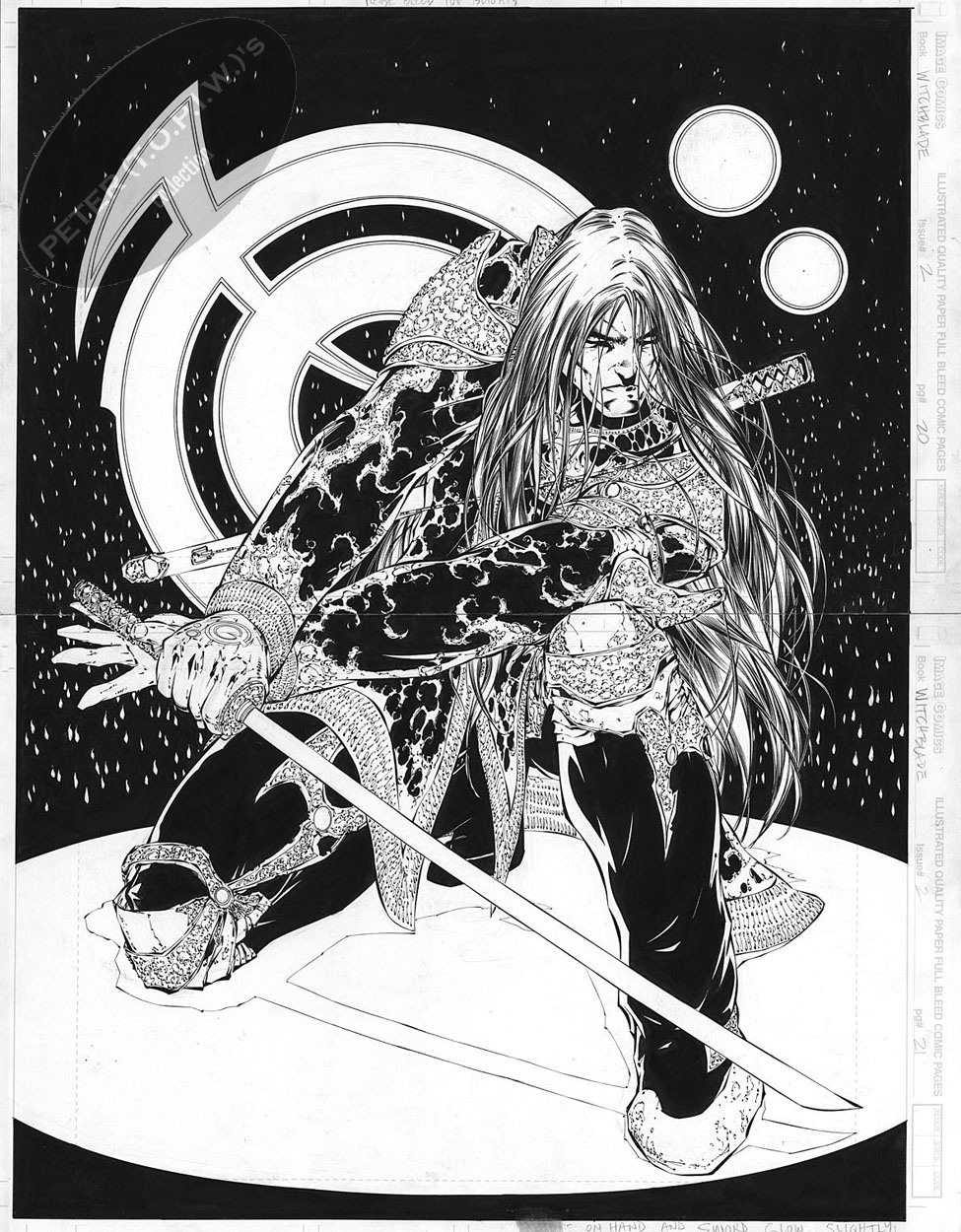 Witchblade #2 pages 20 & 21 by Michael Turner Comic Art