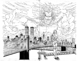 Witchblade #11 pages 21 & 22 by Michael Turner, Comic Art