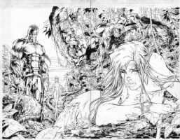 Witchblade #16 pages 20 & 21 by Michael Turner, Comic Art