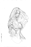 Witchblade bust commission by Kevin Sharpe Comic Art