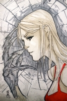 Darkchylde sketch by Giuseppe Cafaro, Comic Art