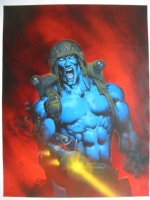 2000AD Monthly Prog 107 Rogue Trooper Cover : Kevin Walker Comic Art