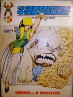 European Fantastic Four cover WANTED 4 Fantasticos Vertice 59 Comic Art