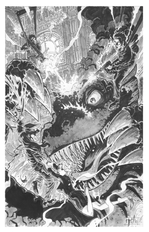Suicide Squad vs Gorgo Comic Art