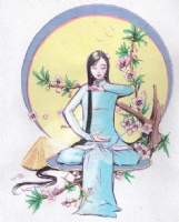 Vietnamese girl, Comic Art