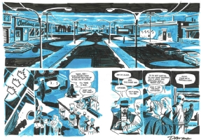 Parker.The Outfit . Double page 62 and 63. Comic Art