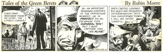 Tales of the Green Berets . Week 3 Day 1. 1965 . Comic Art