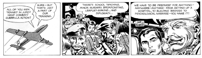 Tales of the Green Berets . Unpublished Strip . Comic Art