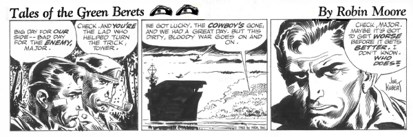 Tales of the Green Berets . Last strip from the first story  Comic Art