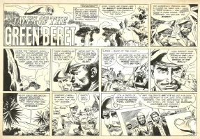 Green Berets sunday strip . 9 / 25 / 1966 . Comic Art