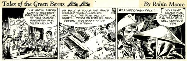 Green Berets. Week 5 Day 1. 1965 . Comic Art