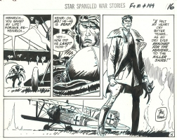 Star Spangled War Stories # 149 p. 15 . Enemy Ace . 1969 . Comic Art