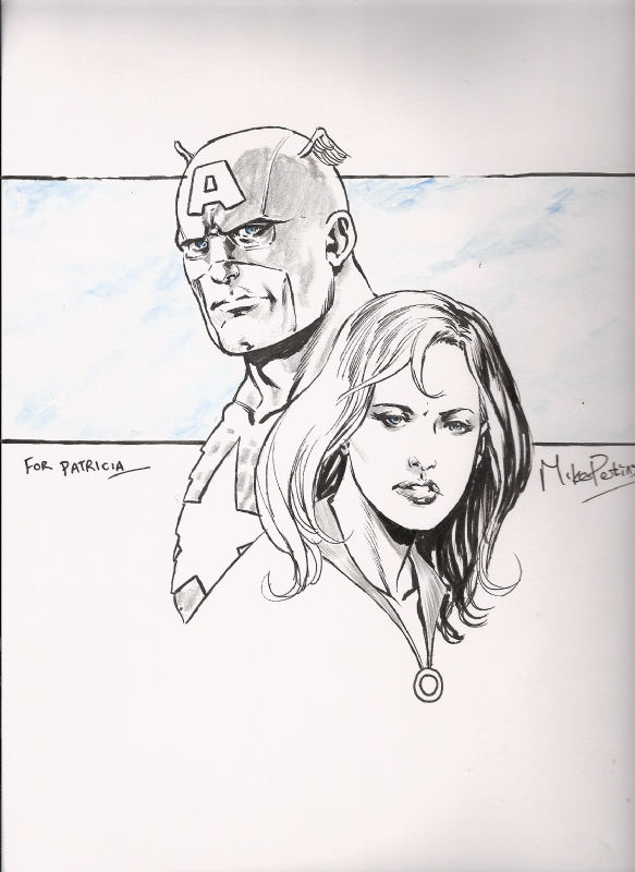 Perkins - Captain America & Sharon Carter Comic Art