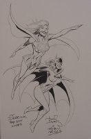 alan davis and robin riggs supergirl and batgirl Comic Art