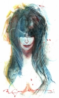Elvira by Bill Sienkiewicz, Comic Art