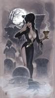 Elvira by Adam Hughes, Comic Art