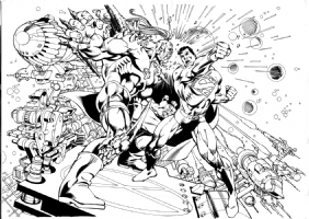 Scott Williams Garcia Lopez Superman Doomsday Comic Art