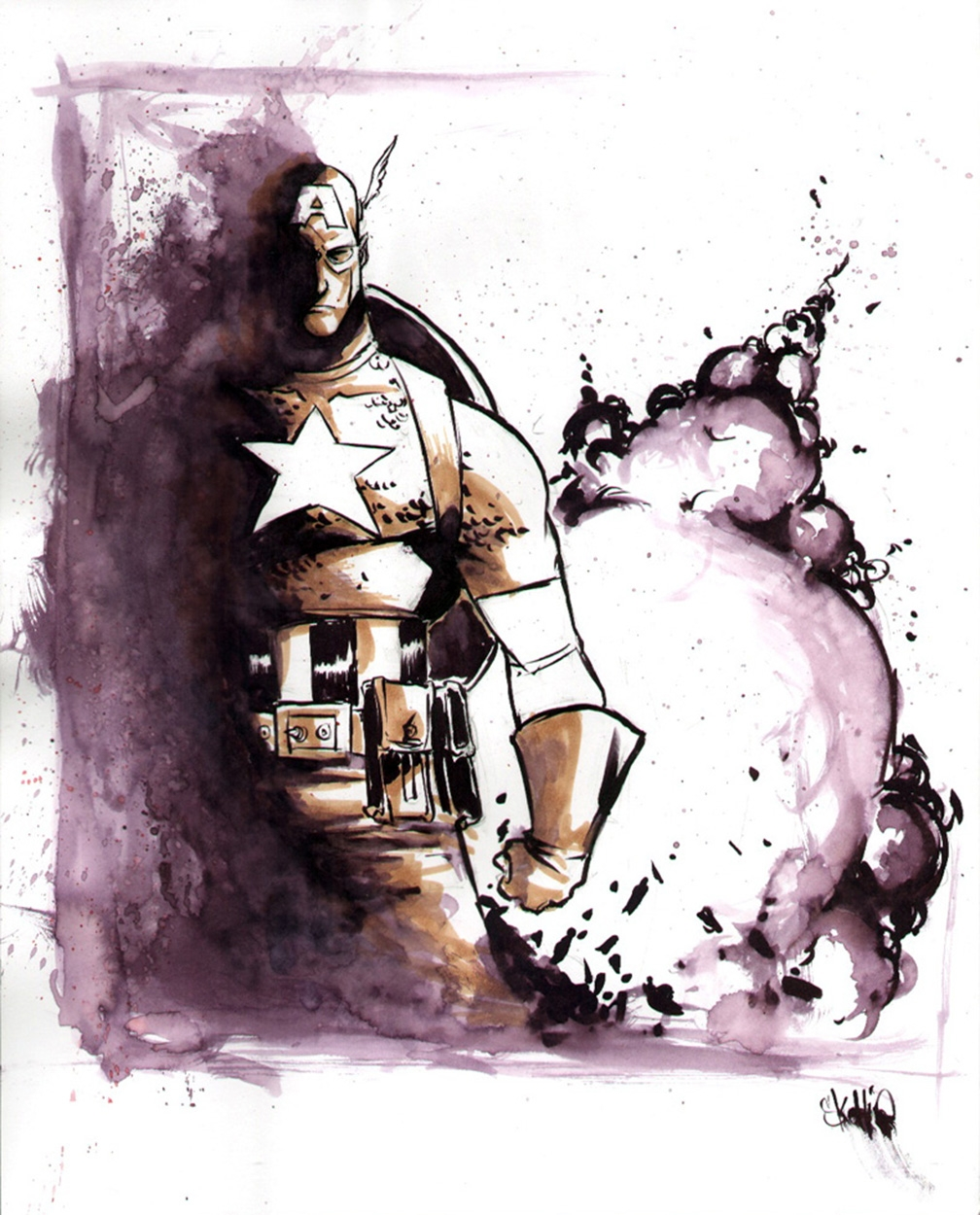 Captain America by Skottie Young Comic Art