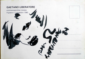 Liberatore vintage sketch on postcard Comic Art