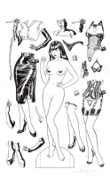 Baldazzini Bizzaries 2 inside cover + erotic paper dolls cover Comic Art