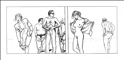Milo Manara unpublished strip Comic Art