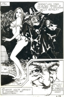 Milo Manara 60' splash page Comic Art