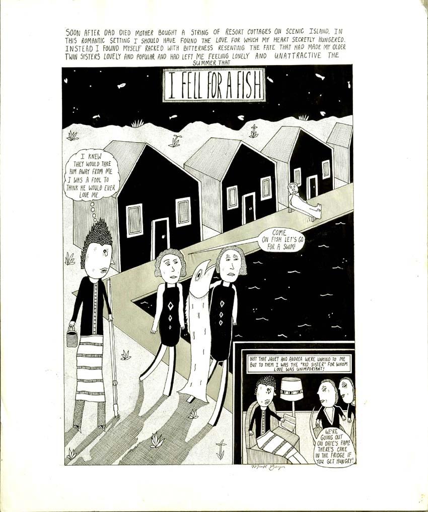 Mark Beyer unpublished romance (?) story Comic Art