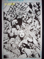 Darkness / Witchblade Inked Comic Art