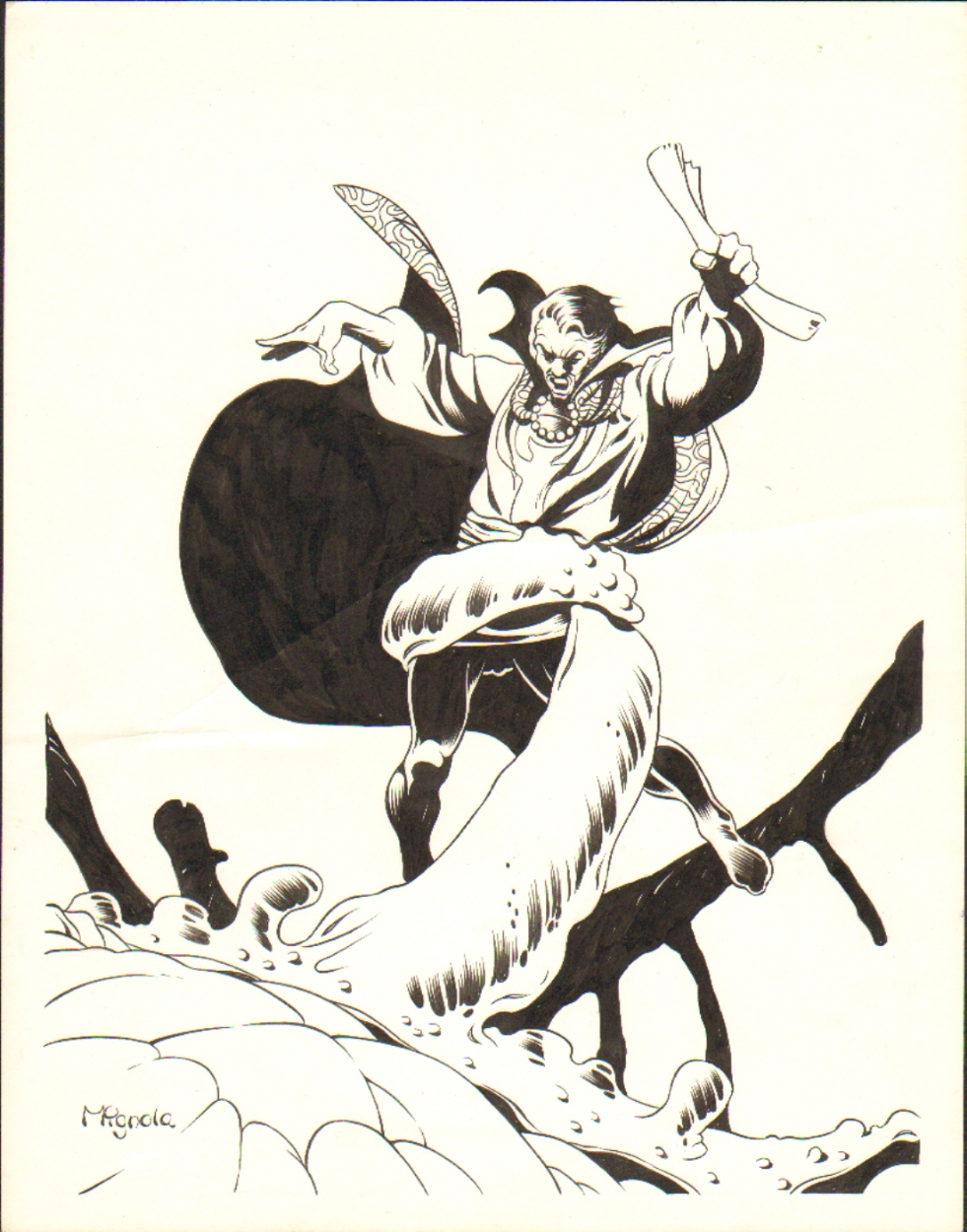 Mike Mignola Doctor Strange pinup Comic Art