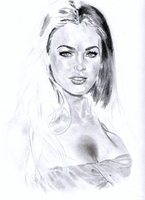 Megan Fox Portrait Part 7 Comic Art