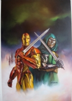 Iron Man vs Doctor Doom  Duel  Cover (Julie Bell) (1994) Comic Art