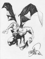 Red Rain Dracula-bat by Kelley Jones Comic Art